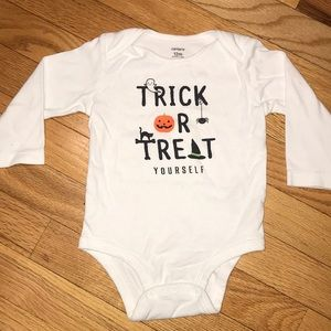 Carters Halloween Trick or Treat Yourself Onesie